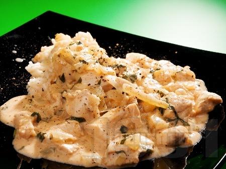 Пиле жулиен с босилек - снимка на рецептата